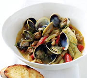 Steamed Clams With Sausage and Fennel